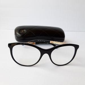 CHANEL 2019 RX black gold frame eyeglasses & case